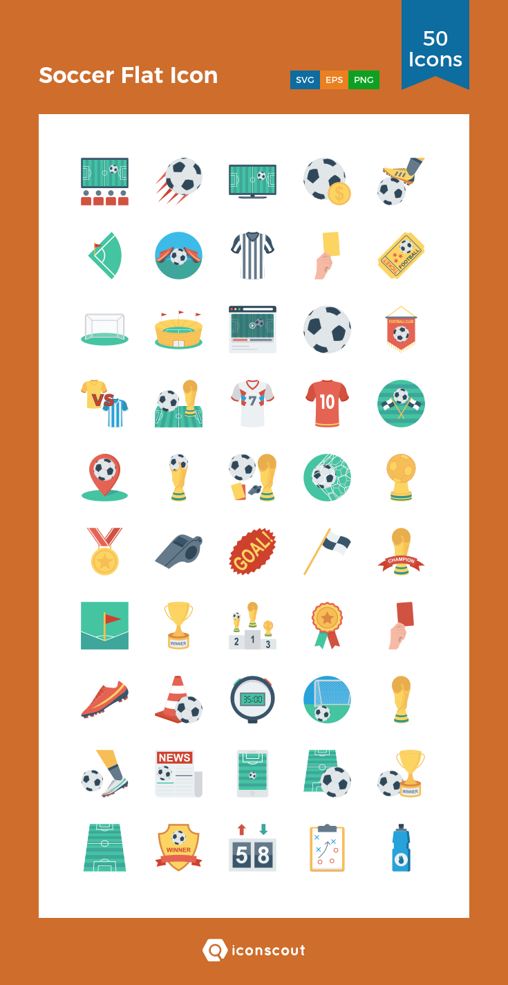 Download Soccer Flat Icon Icon pack Available in SVG