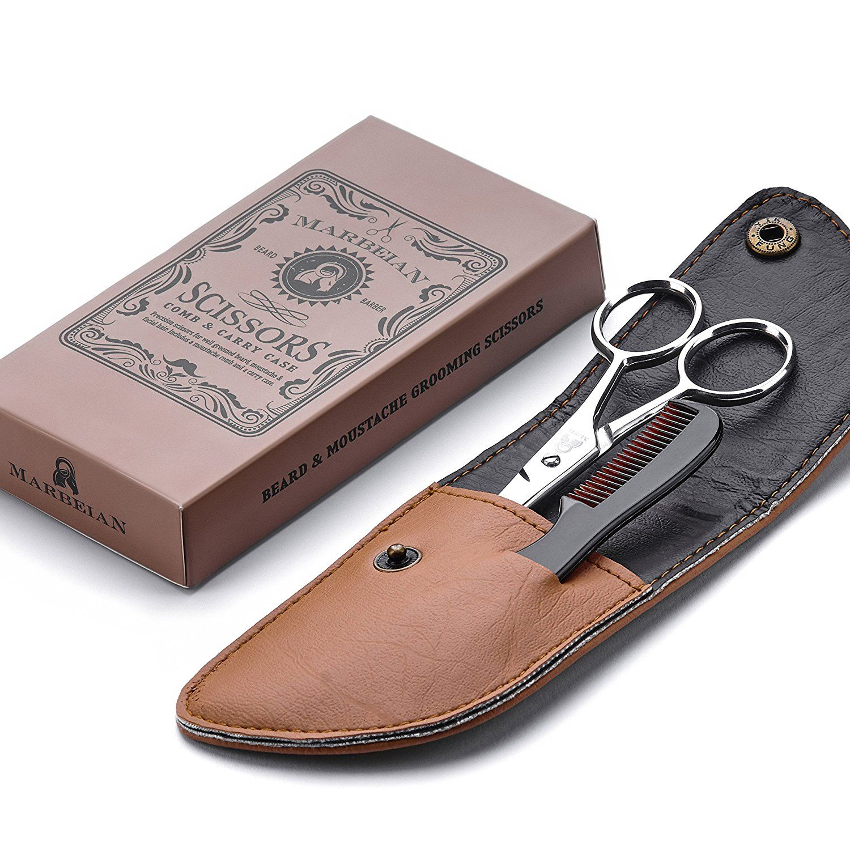 Beard moustache scissors with comb for precise facial