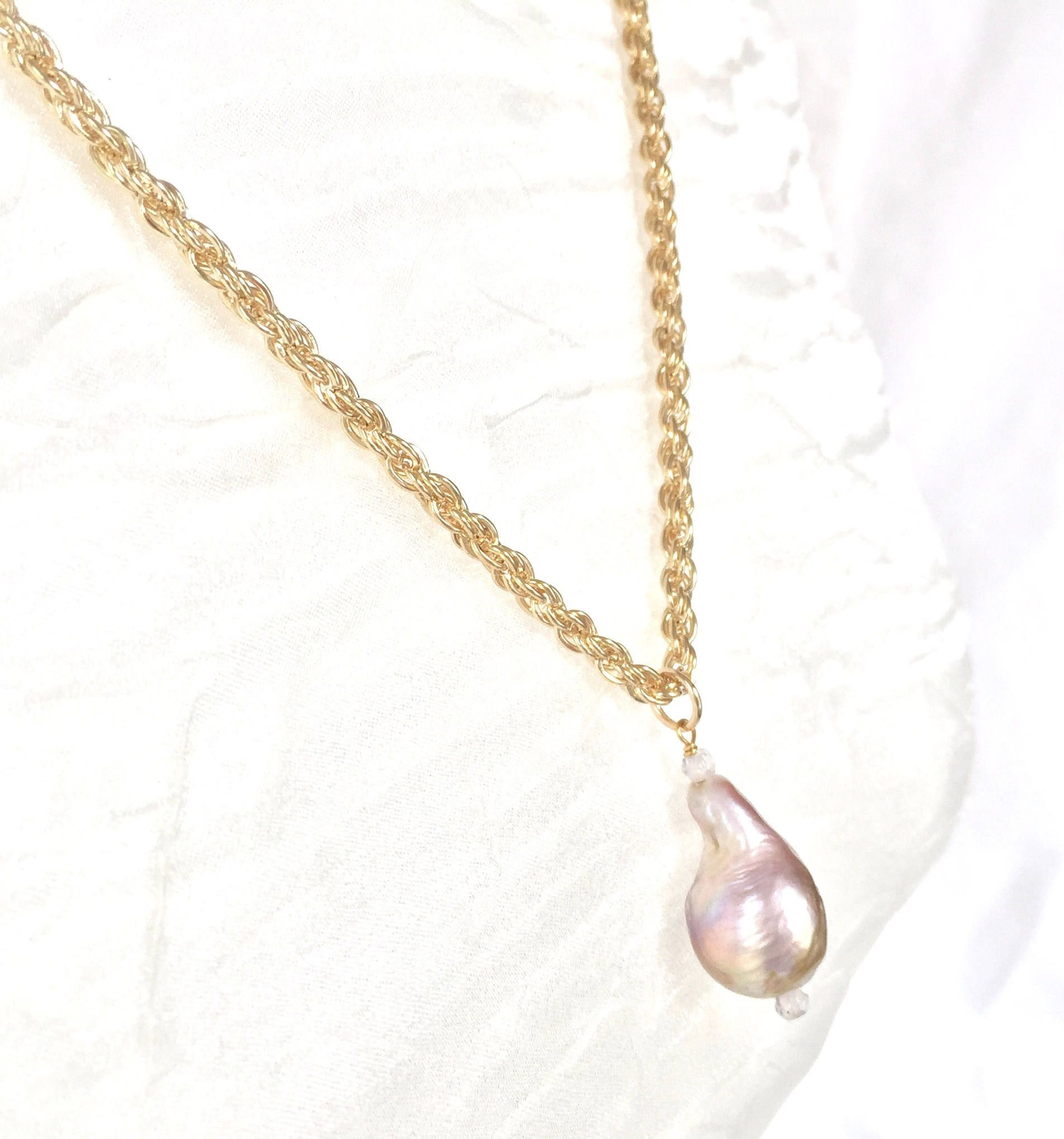 white over stock silver photo isolated chain on pendant pink pearl