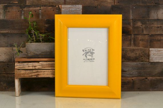 A4 Size Picture Frame In Classy Style With Solid Buttercup Finish