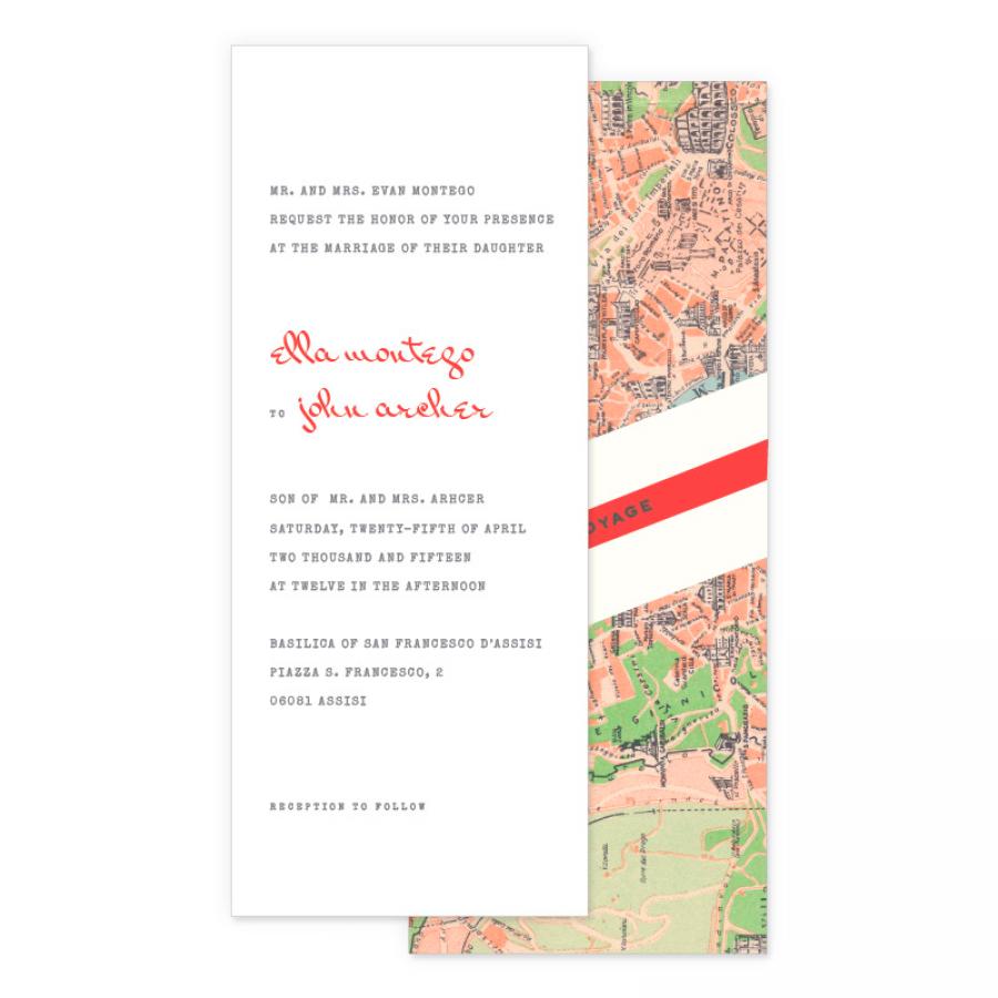 Montreal Wedding Invitations: Ciao Travel Wedding Invitations