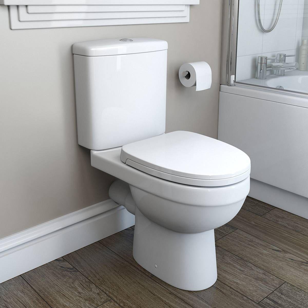 Energy Close Coupled Toilet inc Soft Close Seat PLUS Pushfit Service Valve  Victoria Plumb. The Energy close coupled toilet is a space saving short projection