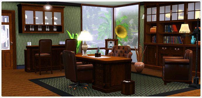 Clube Vaidadenburger - Relaxamento (Refúgio + Escritório) - Store - The Sims™ 3