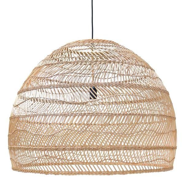 Hk Living Extra Large Rattan Shade Wicker Pendant Light