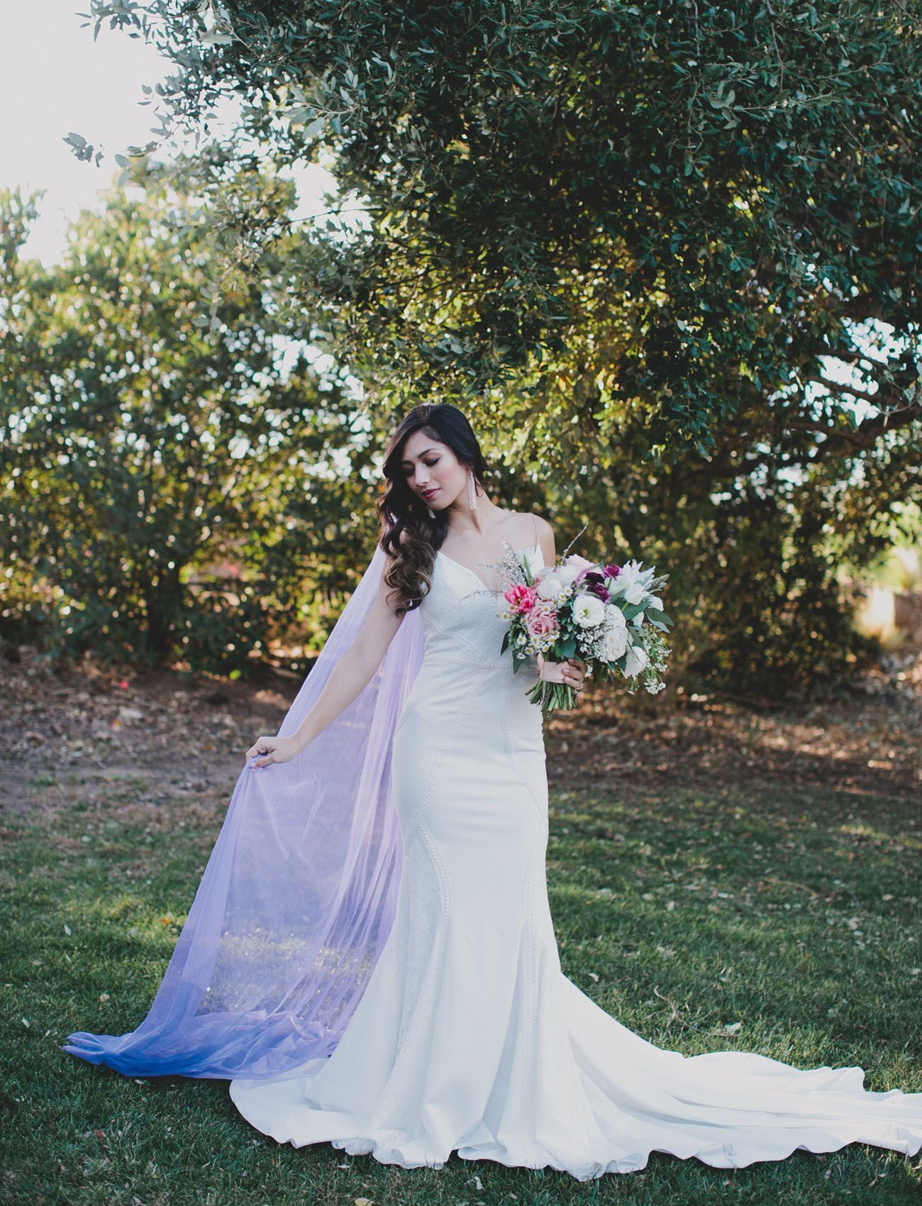 Diy Your Own Ultra Violet Veil Rental Wedding Dresses Diy