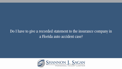 Do I Have To Give A Recorded Statement To The Insurance Company In