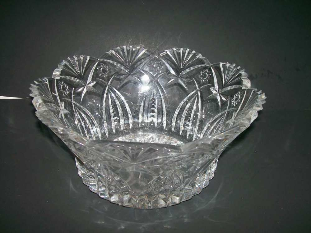 Cristal Darques France Genuine Lead Crystal Vase.Cristal D Arques Lead Crystal 24 France Glass Fruit Bowl 9 1 4