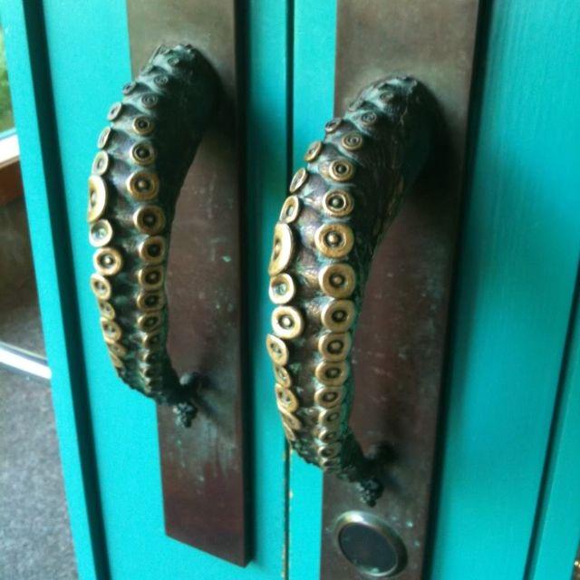 octopus brass door handles pinteres