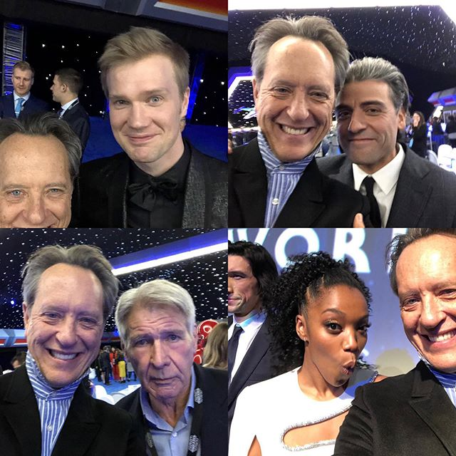 Richard E Grant S Selfies With The Cast The Rise Of Skywalker Premiere Star Wars Cast Star Wars Film Star Wars