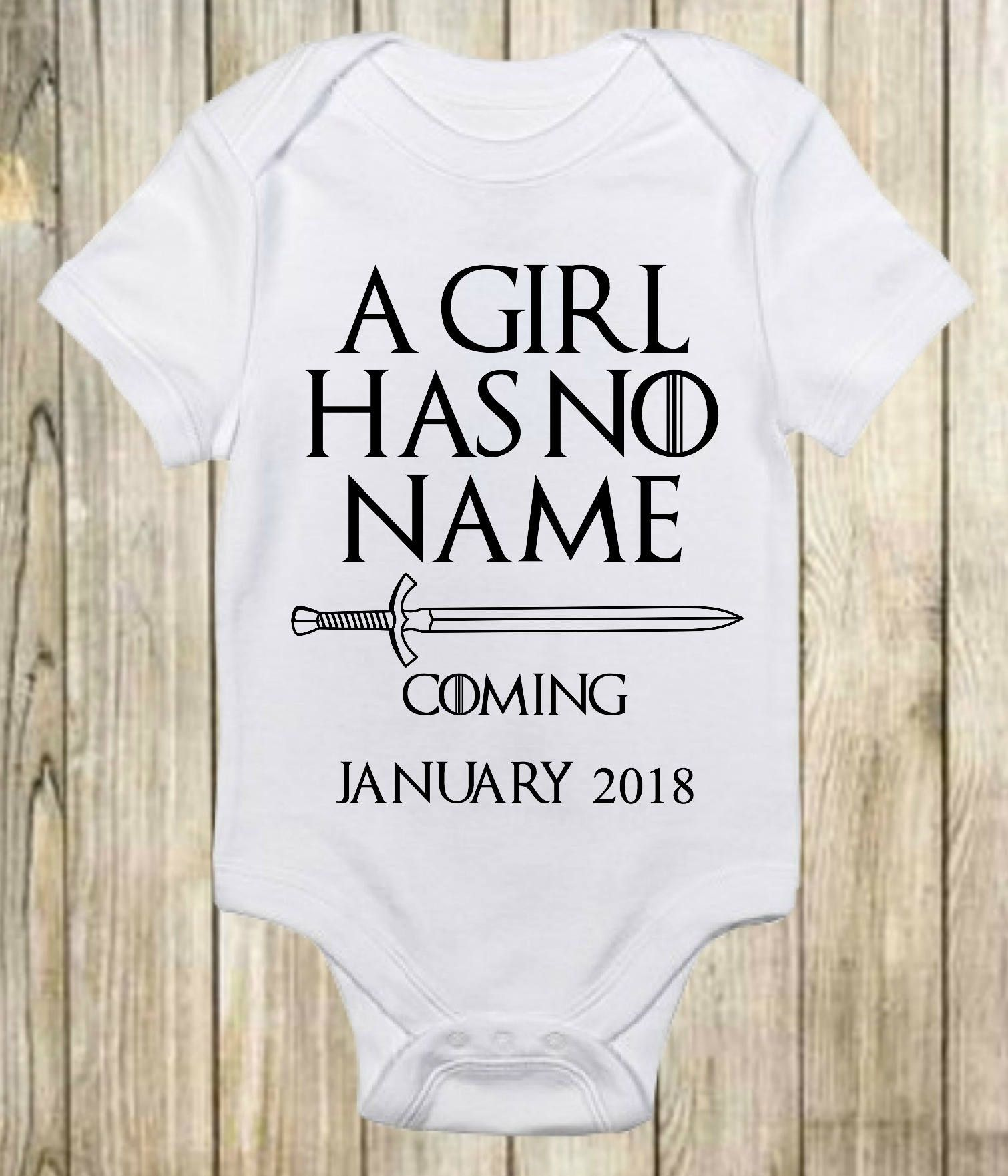 Game of Thrones Baby Has No Name Onesies unisex Baby Gifts Infant Funny Newborn