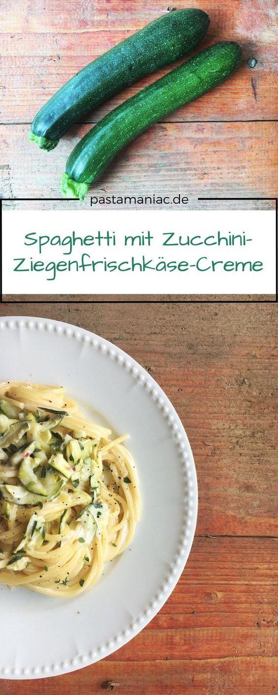 Photo of Pasta with zucchini goat cream cheese   PASTA MANIAC