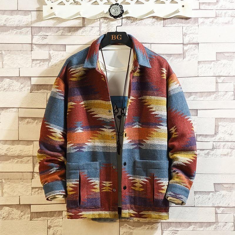90s vintage retro color printing jacket