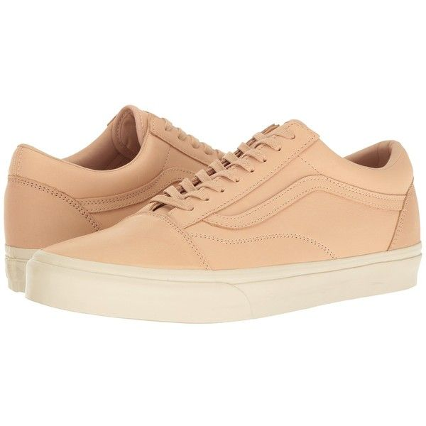24f80bd2cd Vans Old Skool DX ((Veggie Tan Leather) Tan) Skate Shoes ( 80) ❤ liked on Polyvore  featuring shoes