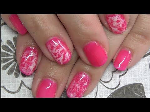 Water Marbling With Gel Polish Tutorial Gel Nail Designs Cotton Candy Nails Gel Art