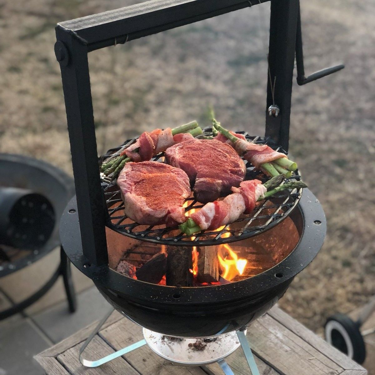 Pin On Gabbys Grills Santa Maria Bbq Attachment For Weber Kettle Bbq And Much More