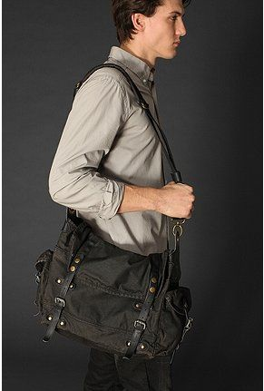 Washed Canvas Messenger Bag - Urban Outfitters