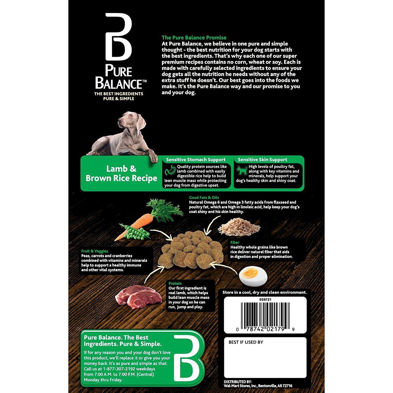 Pure Balance Dog Food Lamb And Brown Rice Recipe 5 Lb You Can