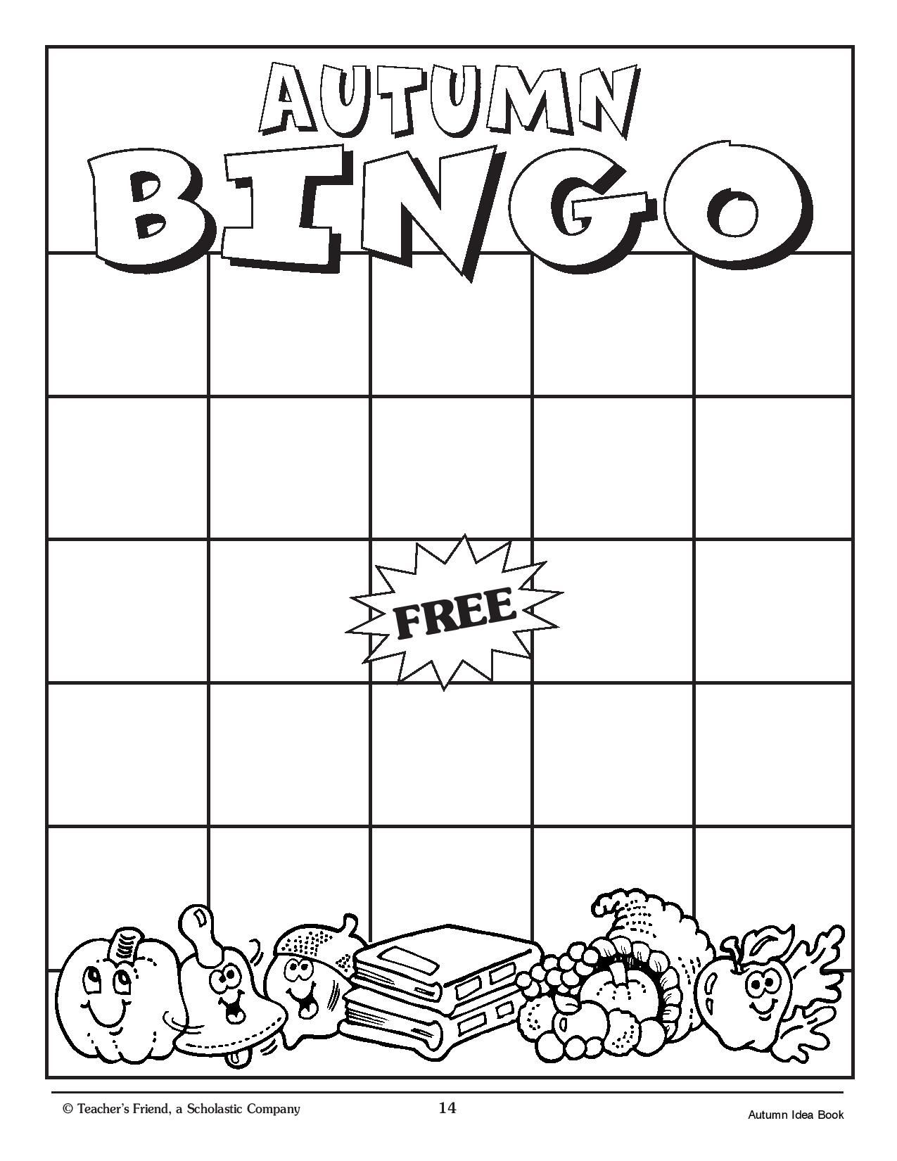 Playing This Word Bingo Game With Your Kids Is An Exciting Way To Celebrate Autumn Page 2 Of 2