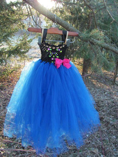 Frozen Anna Tutu Dress With Matching By MissHubbardsCupboard 7500