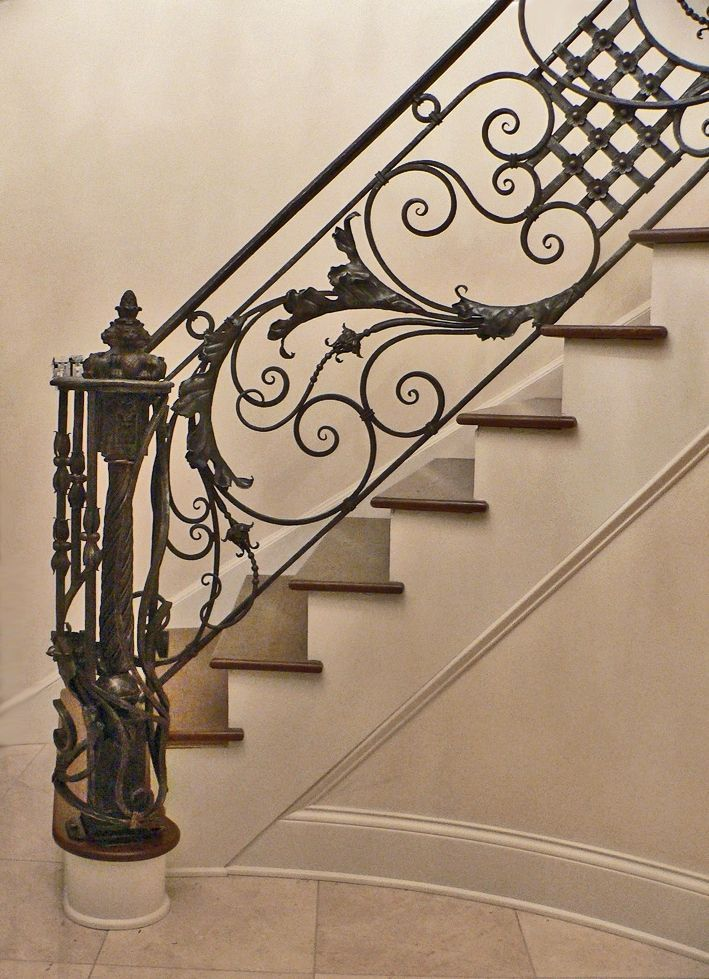 Custom Made Italianate Railing Stairs Wrought Iron