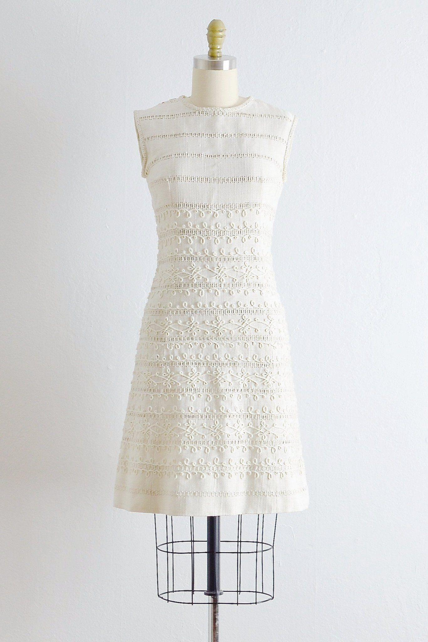 Vintage1950s Sheath Wedding Dress