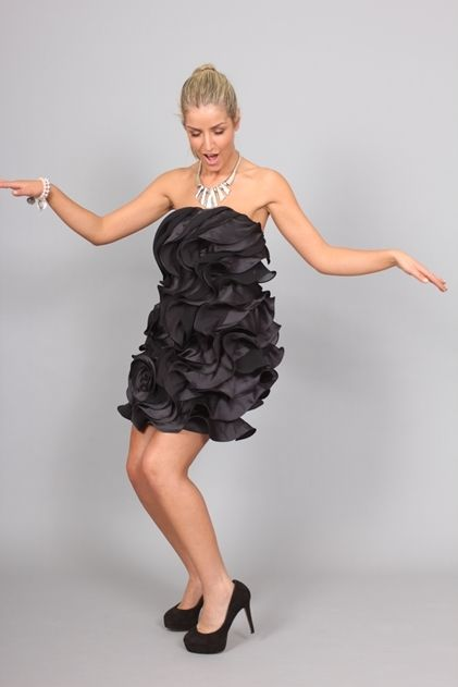 Bariano Strapless Frill Dress