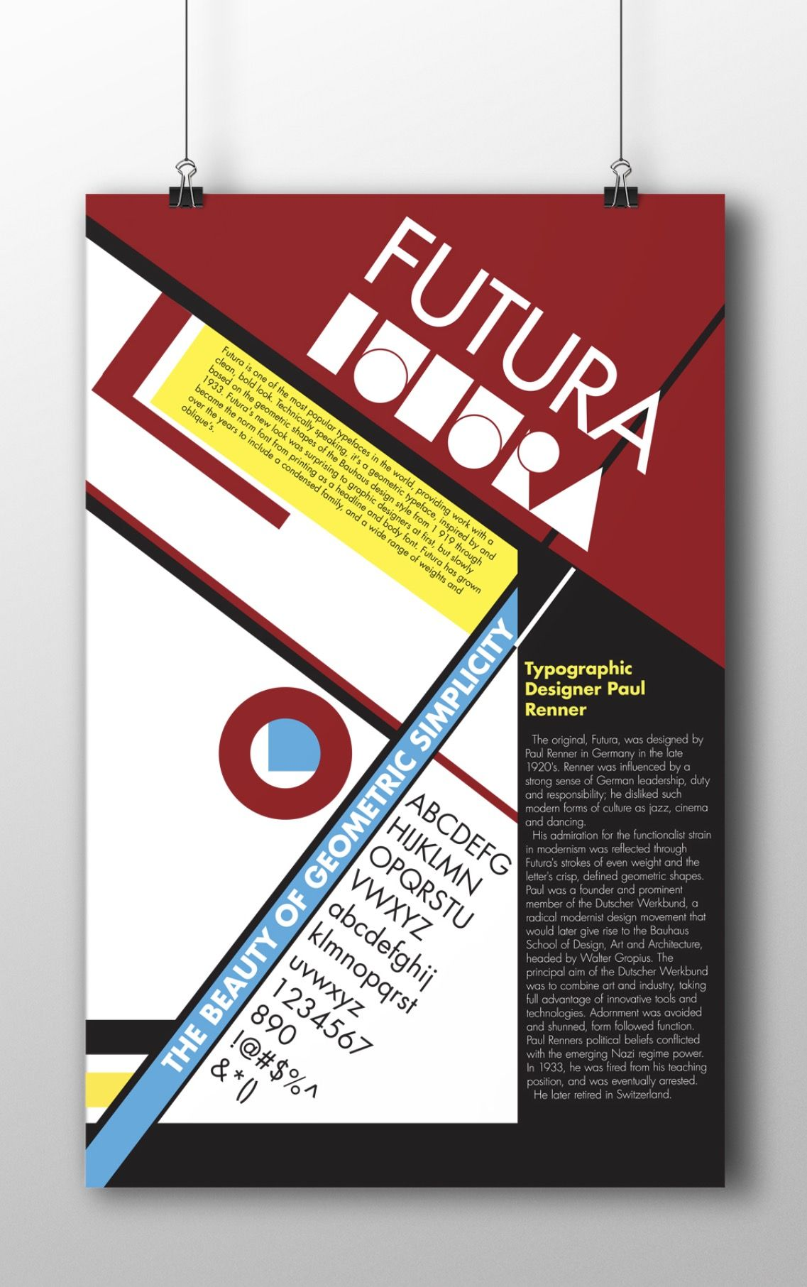 Bauhaus Poster Futura Typo © Cody Reeves Графика и