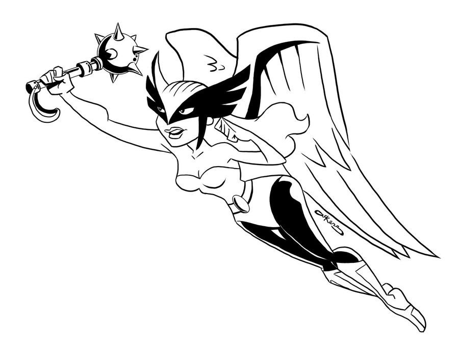 coloring pages hawkgirl | Hawkgirl Coloring Pages | Drawing superheroes, Hawkgirl ...