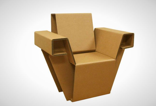 21 Pieces Of Furniture Made From Cardboard Yes Seriously Cardboard Chair Cardboard Furniture Cardboard Furniture Design