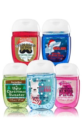 Christmas Fun 5 Pack Pocketbac Sanitizers Bath Body Works
