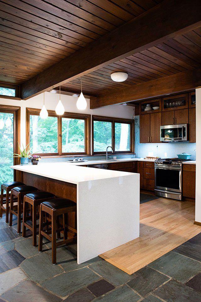 Mid Century Kitchen Remodel New West Lafayette Mid Century