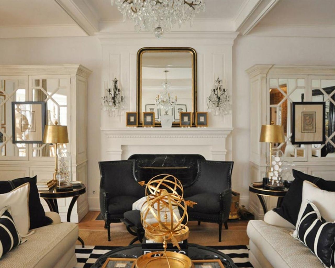 How to Refresh Your Space for Fall | Black, gold living ...