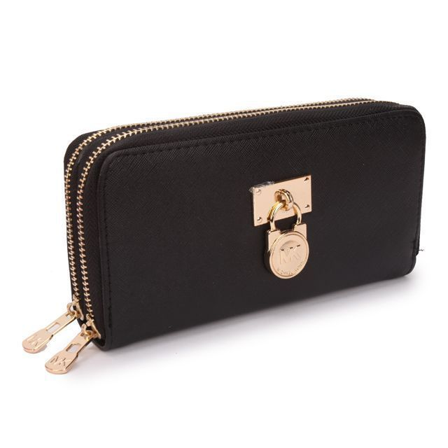$29.99 Michael Kors Outlet Hamilton Continental Lock Large Black Wallets  The only bag with labels I