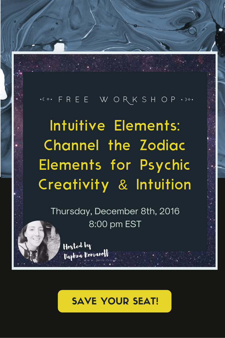 ⋆☾✧⋆  A cosmic calling for all Seekers  to join your fellow empath's, Indigo's, lightworkers, and healers for a unique & high vibe live workshop about the 4 elements and how to channel your elemental energy for gaining clarity & confidence in your intuitive psychic creative powers.   You'll learn: How to balance your elements so you'll feel more grounded, focused, and psychically clear in your life & work, and how to use your natural strengths to live true to yourself.