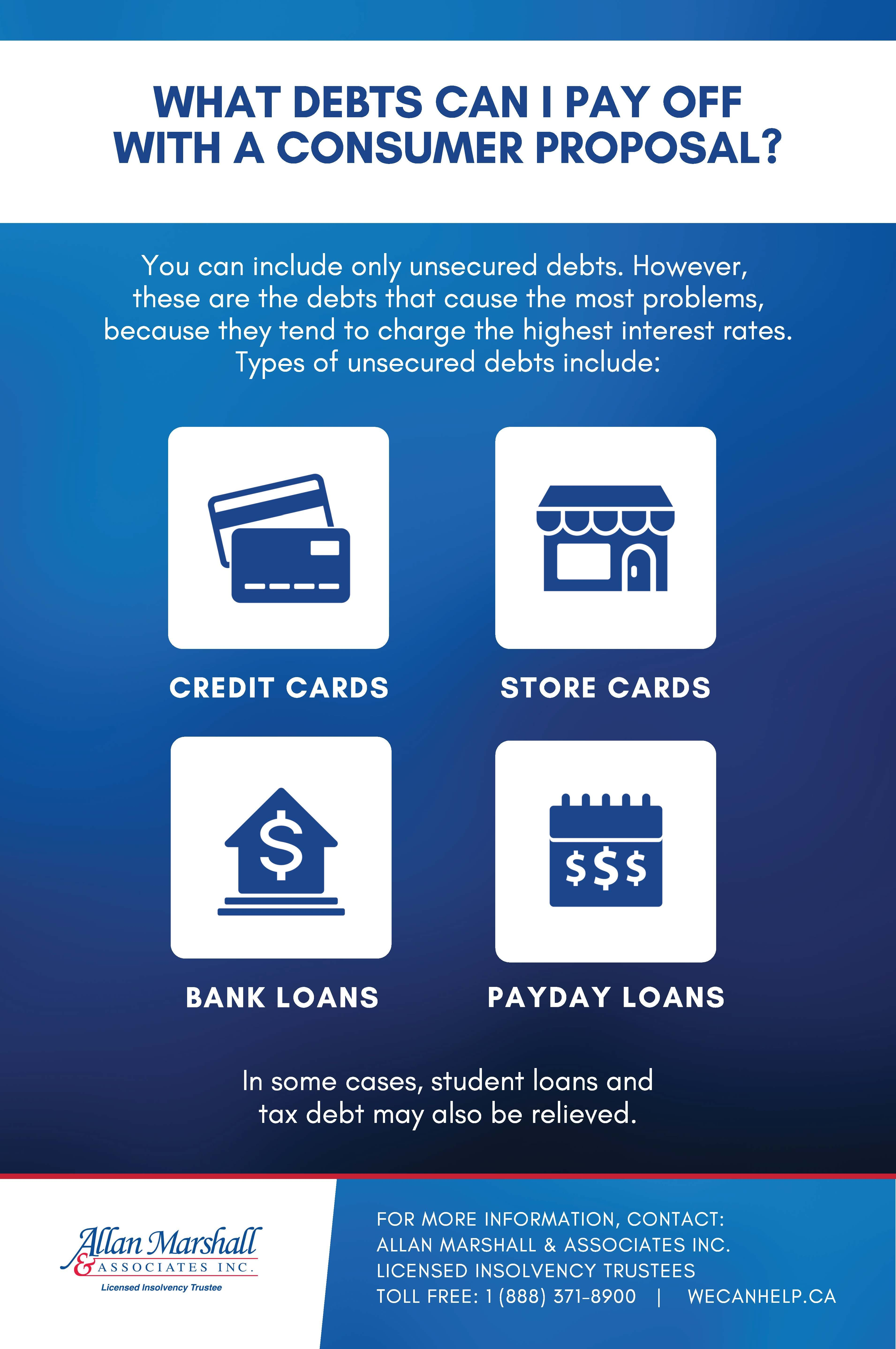 What Type Of Debt Can I Pay Off With A Consumer Proposal Debt Solutions Unsecured Debt Debt