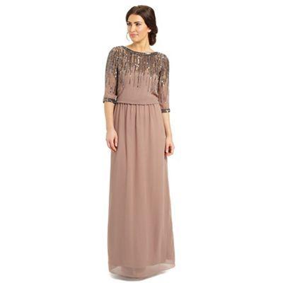 Ariella London Dusky pink mary embellished neck dress- at Debenhams ... f37d301e1