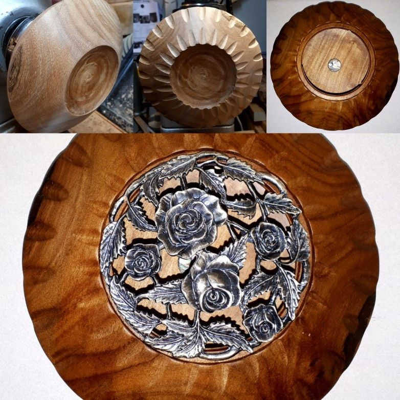 Pot pourri bowl with embellishment done with my new router jig pot pourri bowl with embellishment done with my new router jig metal rose lid keyboard keysfo Images