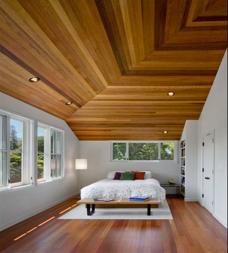 Image result for techo madera | Wood plank ceiling ...