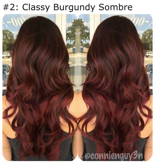 Burgundy Ombre Dark Auburn Hair Auburn Hair Hair Color