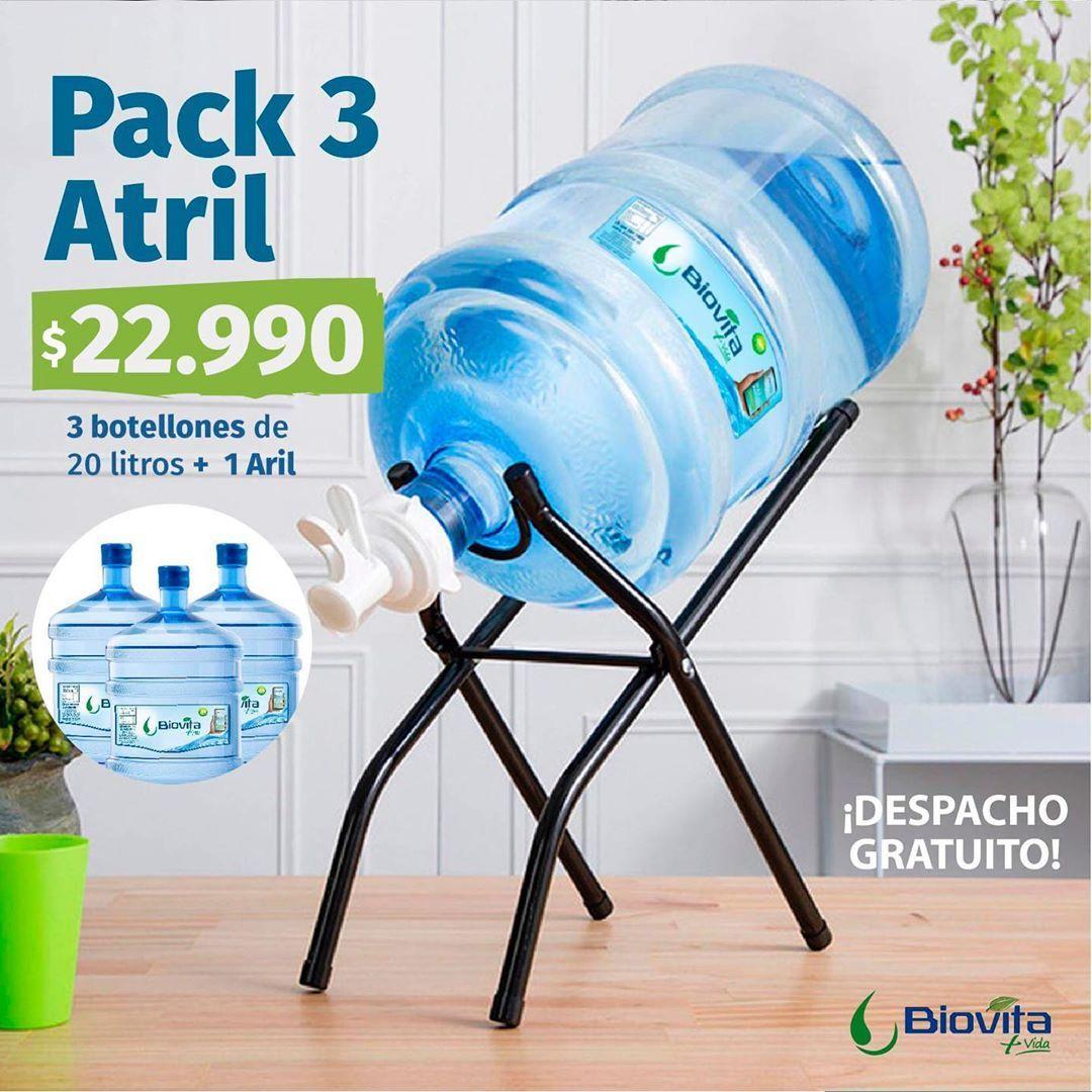 ¡Nuevo pack con atril! 🤩💧✨ Encuéntralo en nuestro Pack 3, Incluyen 3 Botellones de 20 litros + atril...