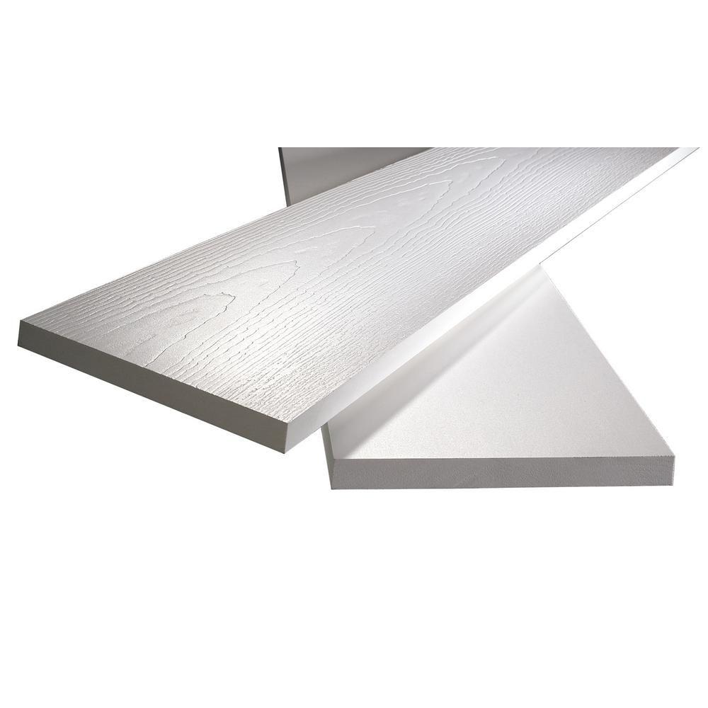 Veranda 3 4 In X 1 1 2 In X 8 Ft White Pvc Reversible Trim 15 Pack 827002200 The Home Depot Pvc Trim Pvc Trim Boards Pvc