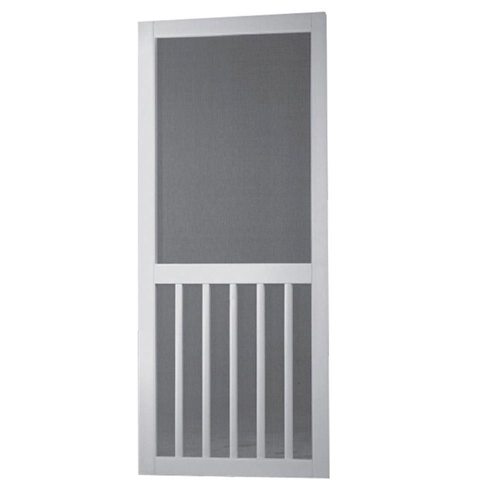 Screen Tight 36 In X 80 In Solid Vinyl White Screen Door With Hardware 5bar36hd Screen Tight Screen Door Hardware Screen Door