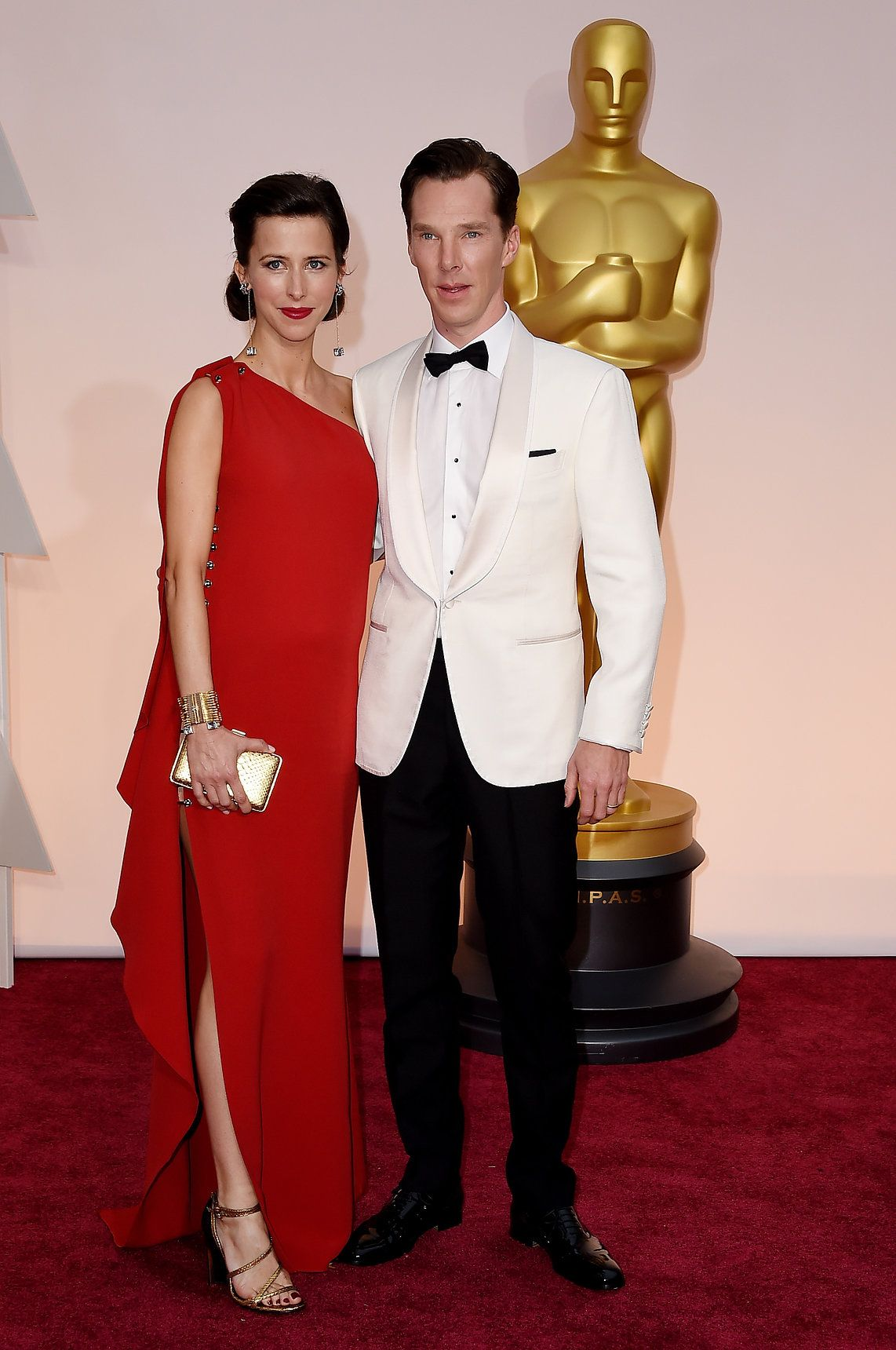 Oscars 2015: Celebrity Fashion—Live from the Red Carpet – Vogue -- Sophie Hunter in Lanvin with Benedict Cumberbatch