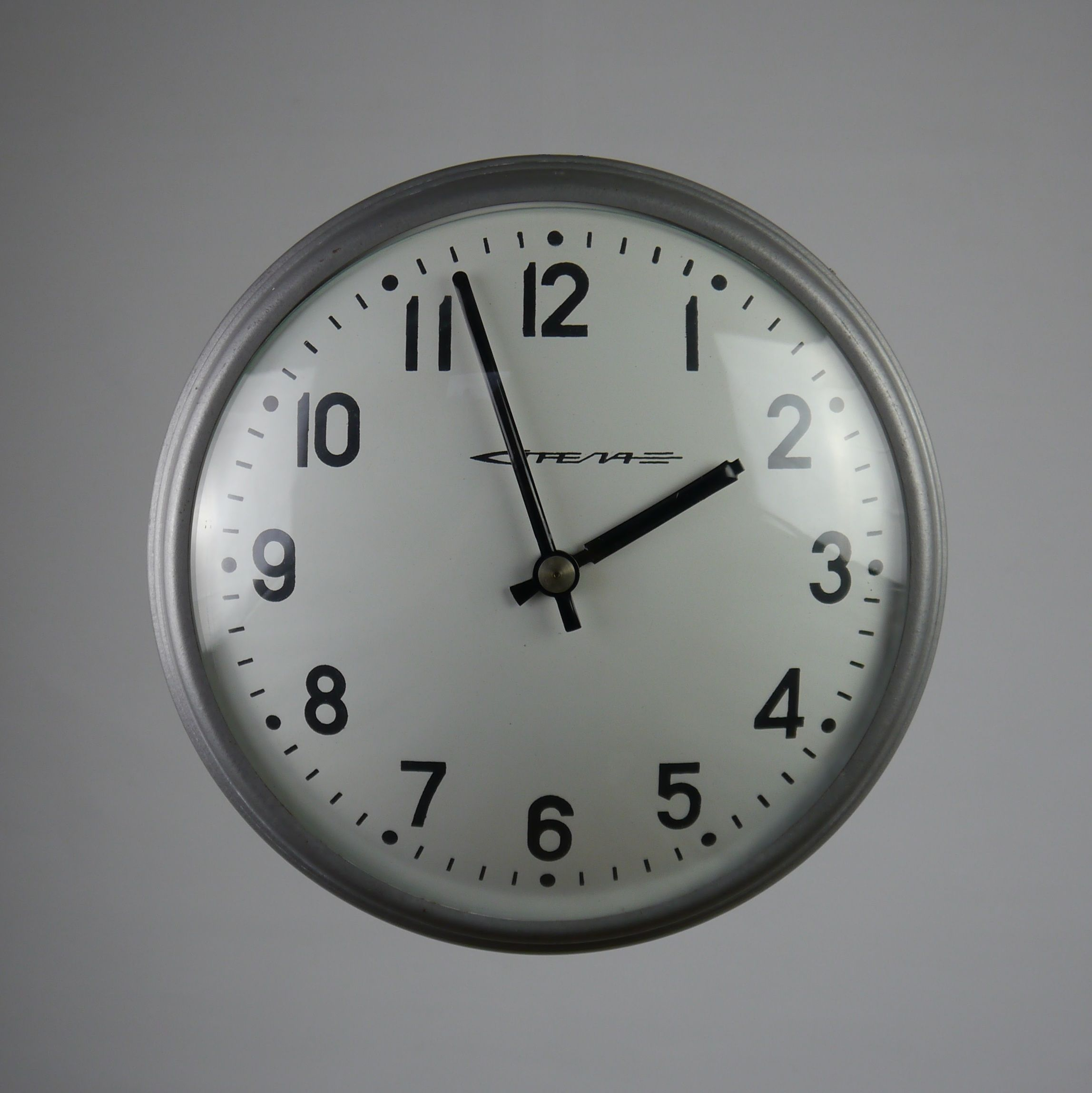 Russian factory clock dating from the 1970s with original russian factory clock dating from the 1970s with original silvergrey hammer amipublicfo Images