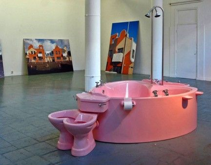 bagno rosa per due | bathrooooooms | Pinterest | Kitsch