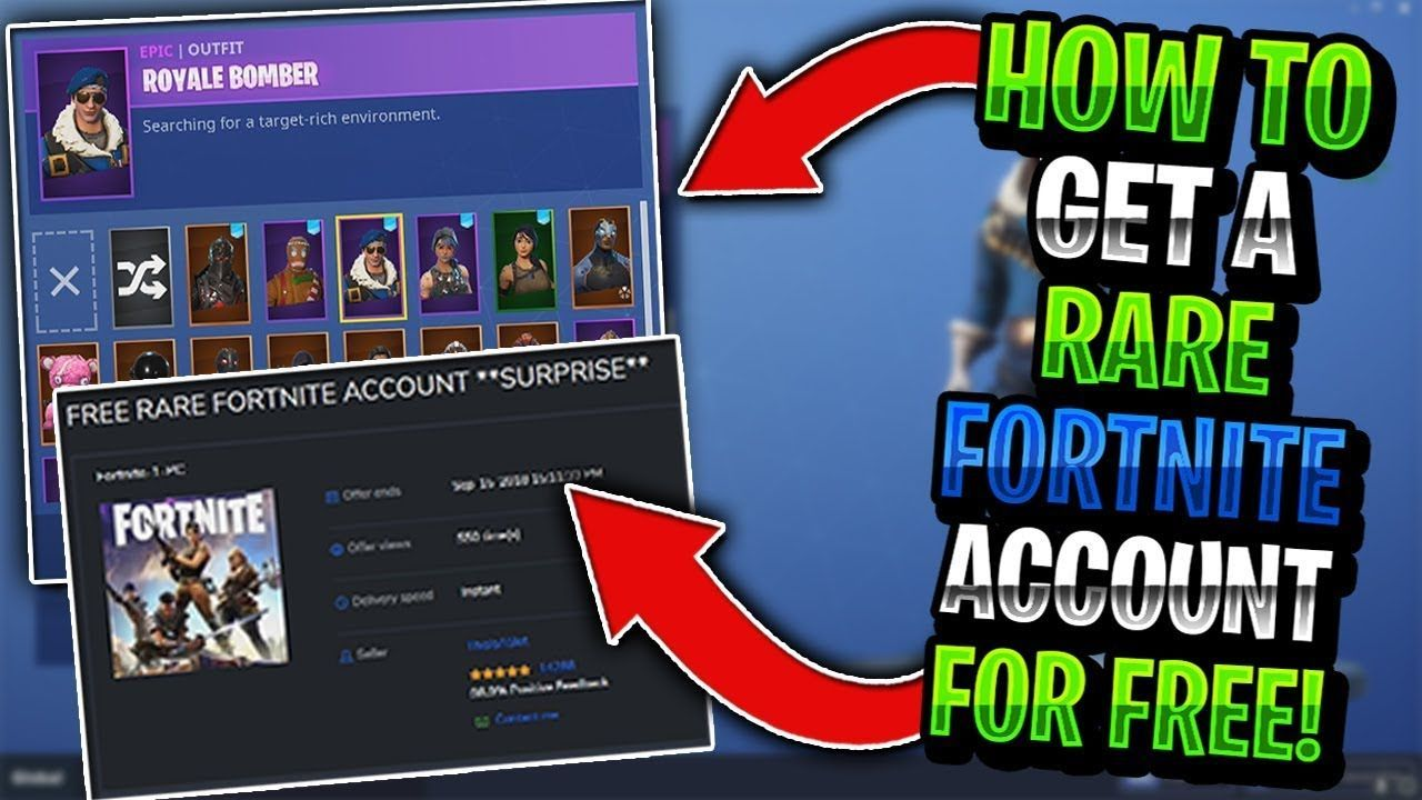 Get fortnite rare skins accounts for free 100 working