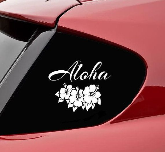 SlapArt design  Aloha Vinyl Wall Decal by VinylMasterpieces, $4.99