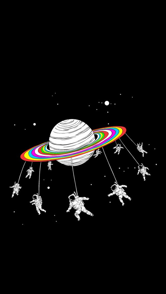 Astronauts Merry Go Round Space iPhone 5s
