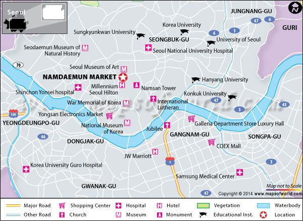 Namdaemun Market Seoul Location Shopping Centres Facts Seoul