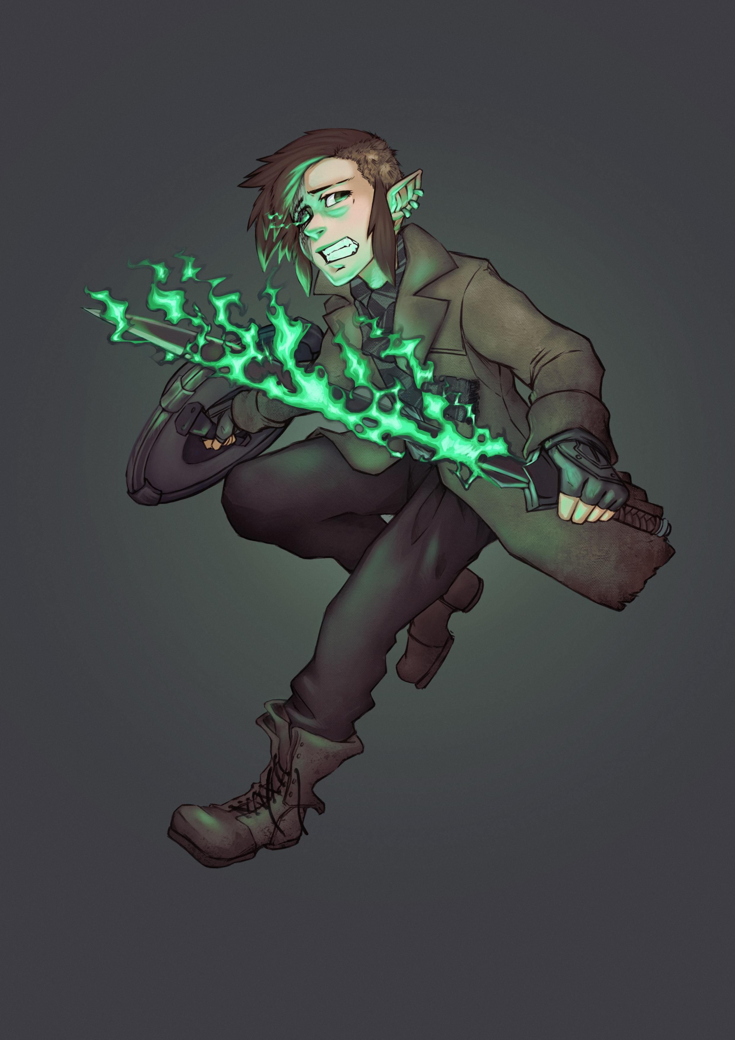 OC] Leone Forster | Undying Warlock Fighter | Drawn by